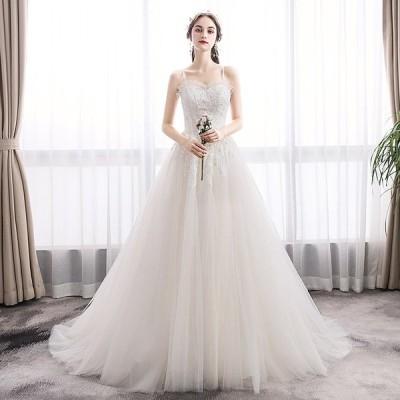 ウエディングドレス aライン 白 シンプル 安い ウェディングドレス 花嫁 結婚式 パーティードレス 二次会 ブライダル ロングドレス イブニングドレス 挙式