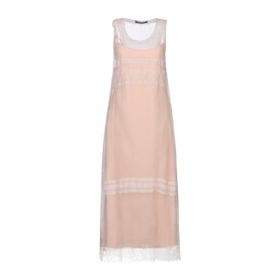 アルベルタ フェレッティ ALBERTA FERRETTI 7分丈ワンピース・ドレス ベージュ 40 シルク 100% / ナイロン 7分丈ワンピー