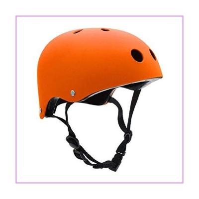 FerDIM キッズ/大人用 スケートボードヘルメット 取り外し可能なライナー付き スケート、スクーター、ス