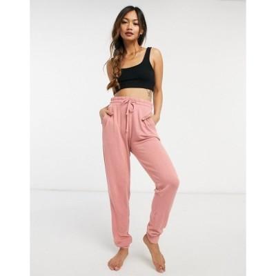 チェルシーピア レディース カジュアルパンツ ボトムス Chelsea Peers soft jersey lounge skinny sweatpants in pink Pink