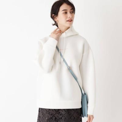 エージー バイ アクアガール AG by aquagirl #staypositive日本財団コラボダンボールフーディー (ホワイト)
