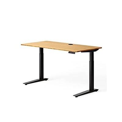 "Fully Jarvis Standing Desk 30"" x 24"" Natural Bamboo Top - Electric Adjustab 並行輸入品"