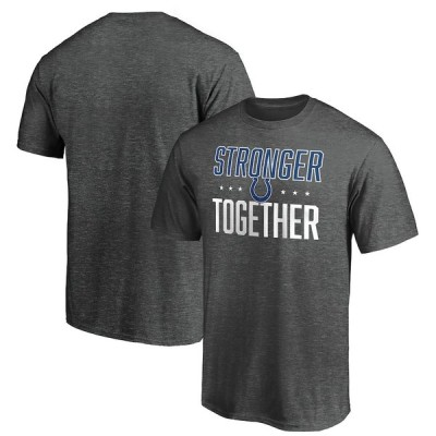 """メンズ Tシャツ """"Indianapolis Colts"""" Stronger Together T-Shirt - Heather Charcoal"""