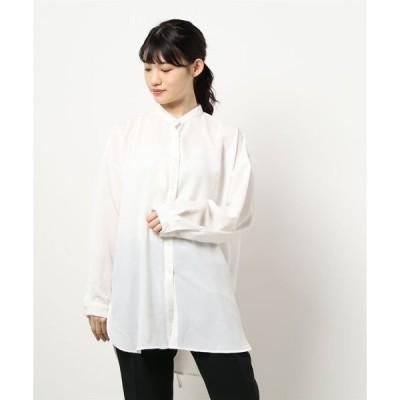 シャツ ブラウス トロピカルバックスリットシャツ