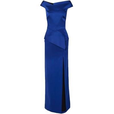ローラン ムレ ROLAND MOURET ロングワンピース&ドレス ブライトブルー 16 アセテート 73% / レーヨン 27% / ポリウレタ