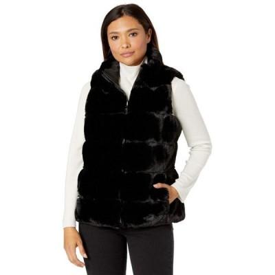 ヴィアスピガ レディース コート アウター Sleeveless Short Reversible Faux Fur Vest