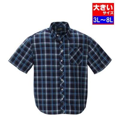 大きいサイズ メンズ Mc.S.P チェック半袖シャツ 3L 4L 5L 6L 8L