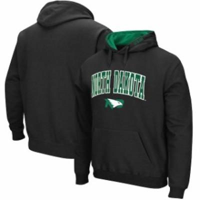 Stadium Athletic スタジアム アスレティック スポーツ用品  North Dakota Black Arch & Logo Tackle Twill Pullover