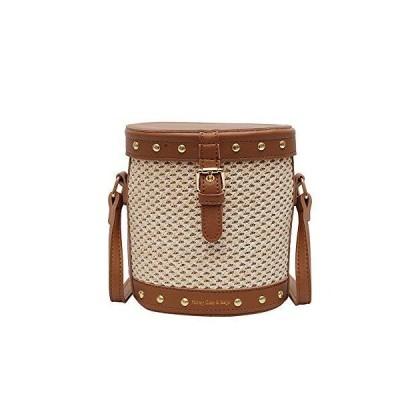 AOFEI Summer Straw Bag Fashion Clutch Handbag Bucket Shoulder Bag Suit for