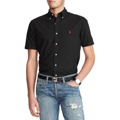 ラルフローレン メンズ シャツ トップス Solid Garment-Dye Twill Short-Sleeve Woven Shirt Polo Black