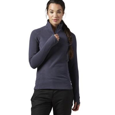 パーカー トレーナー リーボック [AX9177] Womens Reebok FW 1/4 Zip Fleece Top Shirt