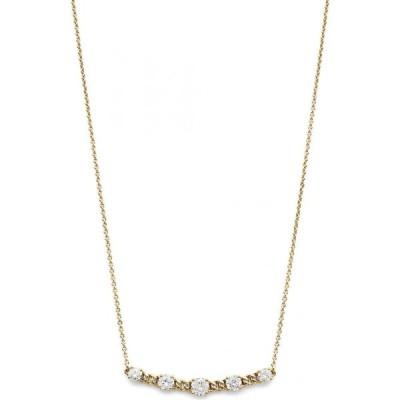 """エリオット ダノリ Eliot Danori ユニセックス ネックレス ジュエリー・アクセサリー Cubic Zirconia Bar Necklace, 16"""" + 2"""" extender Gold"""
