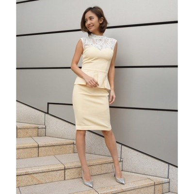 ドレス hight neck peplum dress