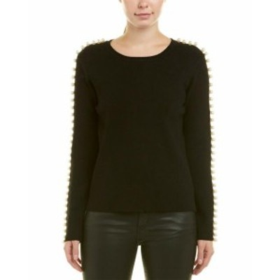 endless エンドレス ファッション トップス Endless Rose Pearl Sleeve Sweater M Black