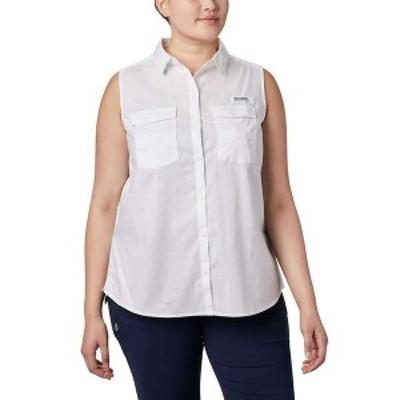コロンビア レディース シャツ トップス Columbia Women's Bonehead Stretch Sleeveless Shirt White