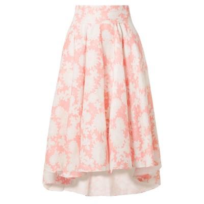 MIGUELINA 7分丈スカート ピンク M リネン 100% 7分丈スカート