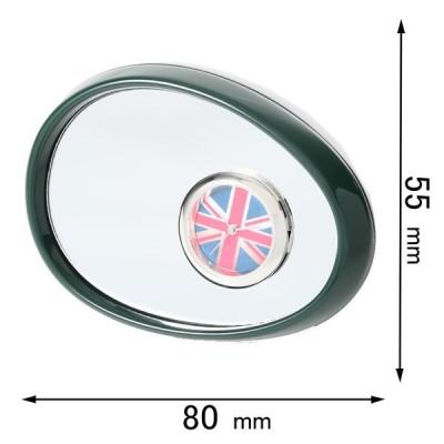 ミニチュアクロック Miniature Clock Collectionミニチュア置時計 サイドミラー 緑 C3215-DGR 返品種別B