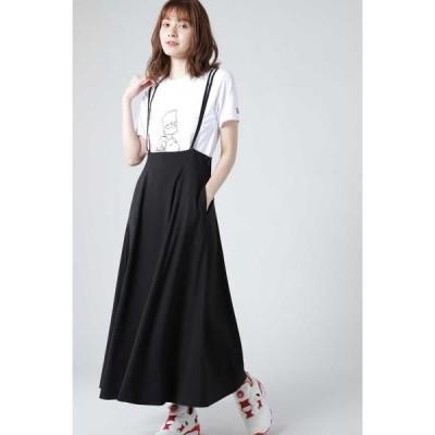 ROSE BUD / ローズ バッド ストラップハイウエストスカート