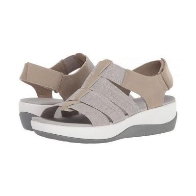 Clarks クラークス レディース 女性用 シューズ 靴 ヒール Arla Shaylie - Sand/White Heathered Elastic
