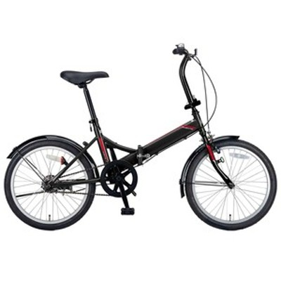 キャプテンスタッグ 折りたたみ自転車 クエント FDB201 折り畳み自転車 20インチ 1段変速 軽量  20インチ  ブラック