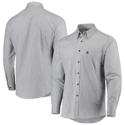 ユニセックス スポーツリーグ メジャーリーグ New York Yankees Antigua Structure Button-Up Long Sleeve Shirt - Navy/White Tシャツ