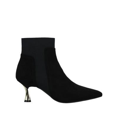 FRACOMINA ショートブーツ ブラック 35 紡績繊維 ショートブーツ