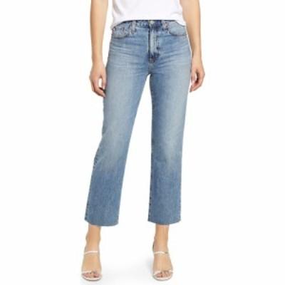 エージー AG レディース ジーンズ・デニム ボトムス・パンツ Alexxis High Waist Raw Hem Crop Straight Leg Jeans 18 Years Creekside