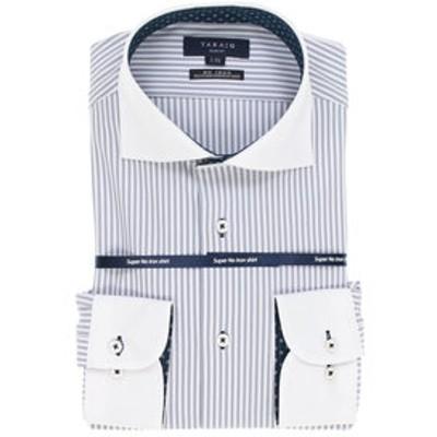 ノーアイロン高機能 スリムフィット クレリックカッタウェイ長袖ニットビジネスドレスシャツ/ワイシャツ