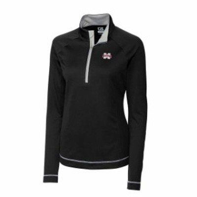 Cutter & Buck カッター アンド バック スポーツ用品  Cutter & Buck Mississippi State Bulldogs Womens Black Evolve Half-Zip Jacket