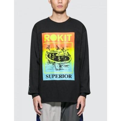 ロキット Rokit メンズ 長袖Tシャツ トップス Vacation L/S T-Shirt Black