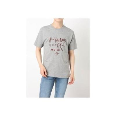 スタイルブロック STYLEBLOCK 半袖ロゴプリントTシャツ (杢グレー)