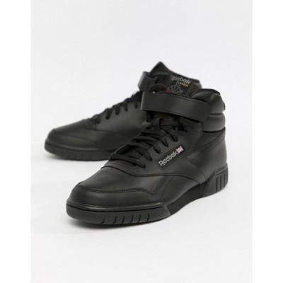 リーボック メンズ スニーカー シューズ Reebok EX-O-FIT hi top sneakers in black