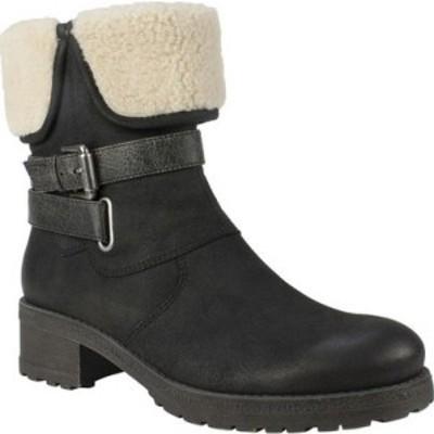 ホワイトマウンテン White Mountain レディース ブーツ ショートブーツ シューズ・靴 Breana Ankle Boot Black Distressed Fabric