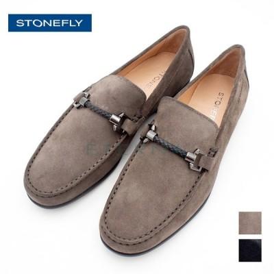 STONEFLY ストーンフライ メンズシューズ スエード ローファー レザービット 紳士靴 靴 コンフォート グレー ネイビー 110601