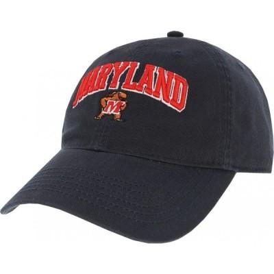 リーグレガシー League-Legacy メンズ キャップ 帽子 Maryland Terrapins Relaxed Twill Adjustable Black Hat