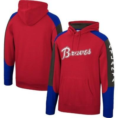ミッチェル&ネス メンズ パーカー・スウェット アウター Atlanta Braves Mitchell & Ness Fusion Fleece Pullover Hoodie