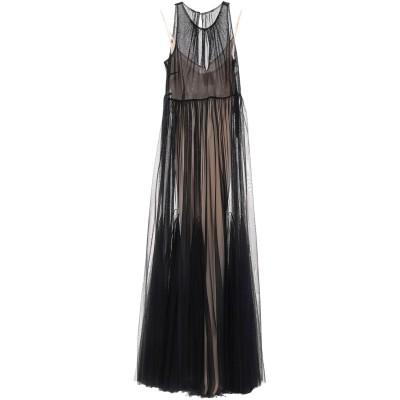 SE-TA Rosy Iacovone ロングワンピース&ドレス ブラック 42 コットン 100% ロングワンピース&ドレス