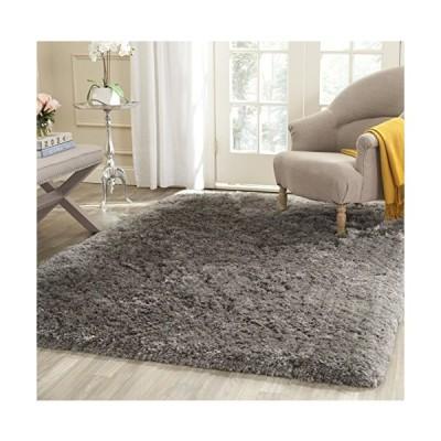 Safavieh Artic Shag Collection SG270G Handmade 3-inch Extra Thick Area Rug, 3' x 5', Grey並行輸入品