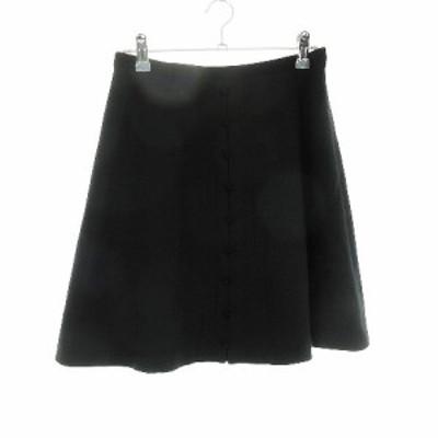 【中古】プロポーション ボディドレッシング PROPORTION BODY DRESSING スカート フレア ミニ 無地 3 黒 レディース