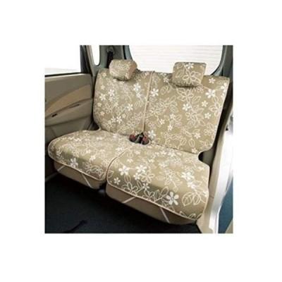 ボンフォーム シートカバー リーフスタイル 軽後席用 エプロンタイプ ベージュ 枕カバー2個付 軽自動車用 4337-27BE