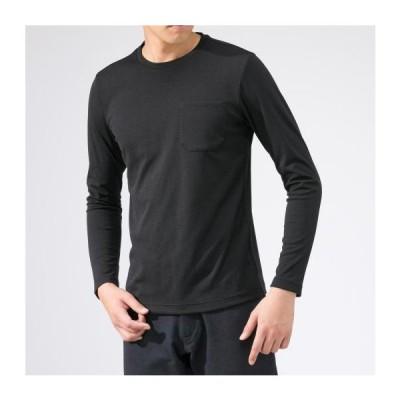 [ミズノ公式] ドライベクターボーダークルーネックシャツ[メンズ] ブラック