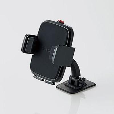 エレコム P-CARS01BK 車載スマホスタンド(テープ貼付)(PCARS01BK)