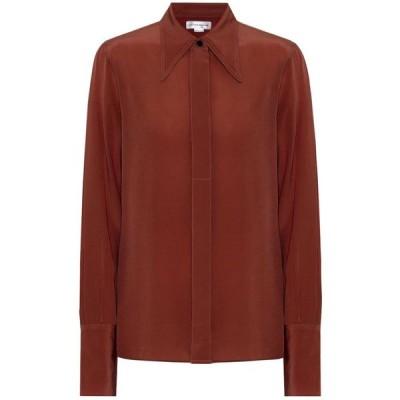 ヴィクトリア ベッカム Victoria Beckham レディース ブラウス・シャツ トップス Silk shirt Chestnut