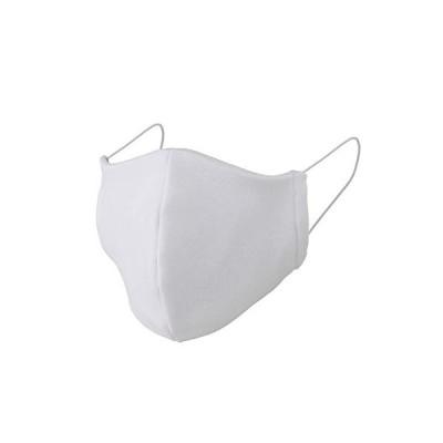 リトルアイランド 改良版日本製洗える立体布マスク 2枚セット 白