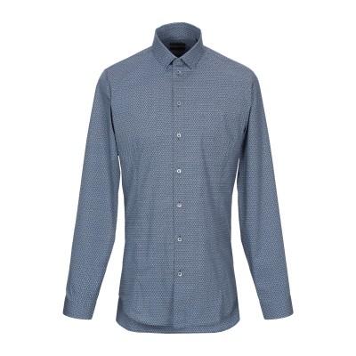 パトリツィア ペペ PATRIZIA PEPE シャツ ブルーグレー 46 コットン 97% / ポリウレタン 3% シャツ