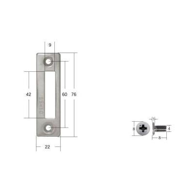 FUKI,フキ 補助錠用ストライク平板 SS-10 [FUKI-30530010]
