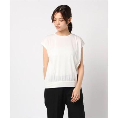 tシャツ Tシャツ 二重地天竺バックリボンTシャツカットソー