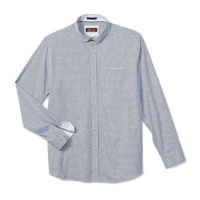 ジョンストンアンドマーフィー メンズ シャツ トップス XC4 Argyle Check Print Stretch Long-Sleeve Woven Shirt Light Blue