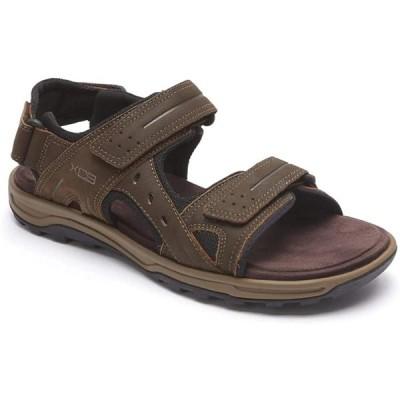 Rockport メンズ トレイル Technique ベルクロ Sandal Sandal, ブラウン, 7.5 M US(海外取寄せ品)