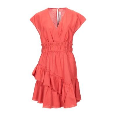 イロ IRO ミニワンピース&ドレス レッド 34 リネン 55% / コットン 45% ミニワンピース&ドレス